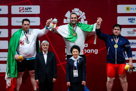 Iranian weightlifters win gold and silver medals in super heavyweight category