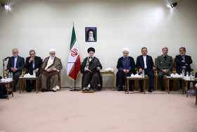 President Rouhani, his cabinet meet with Ayatollah Khamenei