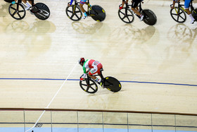 Iranian cyclist placed fourth in omnium event