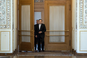 Deputy Foreign Minister for Political Affairs, Abbas Araghchi, before the meeting