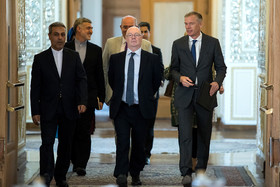 British Minister of State for the Middle East and North Africa, Alistair Burt, before the meeting