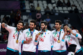 In the final volleyball match of the Asian Games, Iran men's national volleyball team scored a victory over South Korea and became the champion.