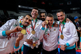 Iran men's national volleyball team win gold medal