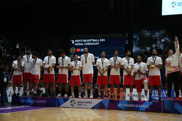 Iran's basketball team ends runners-up at 2018 Asian games