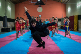 Hossein Sadeghi, 39, is a Wushu player who was born in Afghanistan. He started practicing Wushu at age 9. Then he immigrated to Iran with his family to improve in Wushu. He was trained by the founder of Wushu in Iran, Master Sohrab Zadeh.