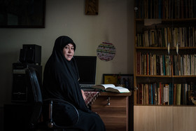 Zahra Hossein Zadeh, 39, has an MA in Philosophy. Her family immigrated to Iran when she was one year old. She is also a poet.
