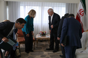 Zarif's meeting with EU's Mogherini