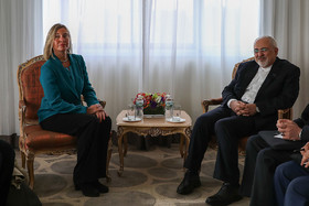 Iran's Zarif, EU's Mogherini hold talks in New York