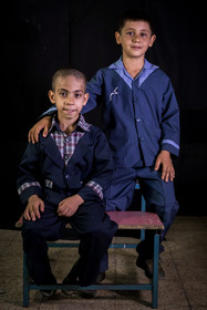 Safa Rahimi and Amir Hossein Mohammadi are the Afghan students of Ali Asgari School.
