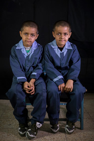 The two brothers, Mahdi and Parviz, are the Afghan students of Ali Asgari School.