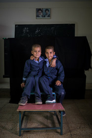 Samie Nouri and Ezzatollah Asadi are the Afghan students of Ali Asgari School.
