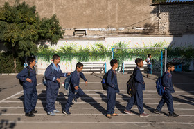 "This school called ""Ali Asgari"" is one of the schools in which three hundred students including immigrants are educated."