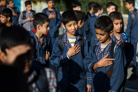 Kurdish, Afghan and Iranian students are educated together at Ali Asgari School. There are nearly 450 thousand immigrant students who live in Iran and receive free education like Iranian children.