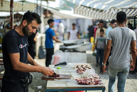 "Juybar's city's Friday Bazaar /  This bazaar features a part in which famous Iranian foods such as ""Kalle Pache"", ""Sirabi"", ""Liver"", ""Jaghor Baghor"" and different kinds of kebab are cooked. Friday Bazaar of Juybar was built a hundred years ago."
