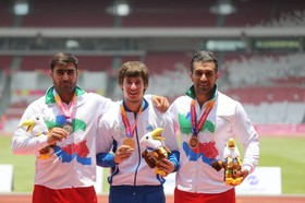 Iran ranks 4th place on 3rd day of 2018 Asian Para Games