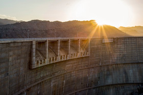 Al Ghadir Dam has had one water pouring from its spillway during 25 years.