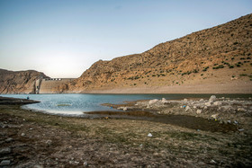 The water level of Al Ghadir Dam has been reduced in recent years.