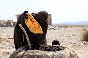 Nomads of the region use their share of flour for making breads, but the flour has a low quality.