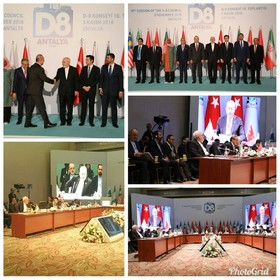 Zarif delivers speech at 18th session of D-8 Council of Ministers