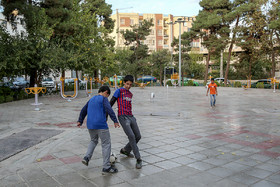 There are exercise facilities in many squares of Narmak Neighbourhood.