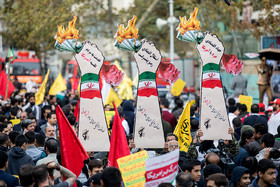 A demonstration was held on National Day of Students and National Day of Fighting Global Arrogance in Tehran in front of the US former embassy.