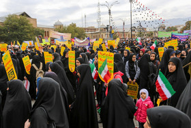 A demonstration was held on National Day of Students and National Day of Fighting Global Arrogance in Hamadan province.