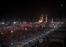 Arriving to Imam Hussain Holy Shrine relieves all the sufferings of walking a long distance.