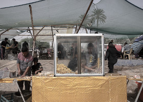 """There are free foods in Arba'een March which are provided by some of the """"Moukebs"""". A Moukeb is a place in which pilgrims can rest in."""