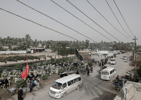 The arrival of pilgrims to Karbala City