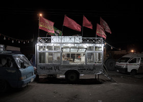 """There are free foods in Arba'een March which are provided by Iraqis and some of the """"Moukebs"""". A Moukeb is a place in which pilgrims can rest in."""