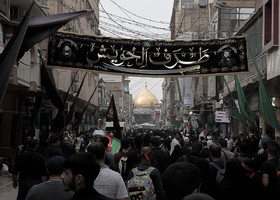 Imam Ali Holy Shrine is the first destination of the pilgrims who attend the Arba'een March. Then, pilgrims go to Imam Hussain Holy Shrine in Karbala City.
