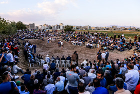 """""""Baba-nazar"""" field, located in Telgerd Village of Mashhad City, is one of the oldest places in which Chukhe wrestling competitions are held."""