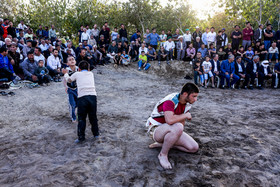 Telgerd Village of Mashhad City / Although there are many chukhe wrestling fans in Mashhad City, poor facilities have been provided for the spectators.