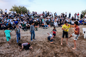 Telgerd Village of Mashhad City / Children are also great fans of Chukhe wrestling competitions.