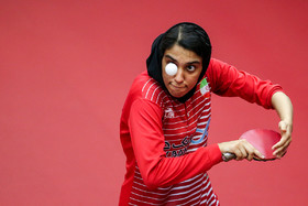 The Iranian table tennis player Mahshid Ashtari / The Iran women's national table tennis team are readying for a table tennis competition which is going to be held in Finland.