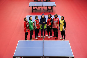 The Iran women's national table tennis team / They are readying for a table tennis competition which is going to be held in Finland.