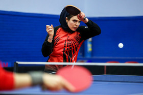 The Iranian table tennis player Neda Shahsavari / The Iran women's national table tennis team are readying for a table tennis competition which is going to be held in Finland.
