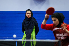The coach of Iran women's national table tennis team Hamideh Iran'manesh / The Iran women's national table tennis team are readying for a table tennis competition which is going to be held in Finland.