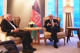 Iran FM meets with Afghan president in Geneva