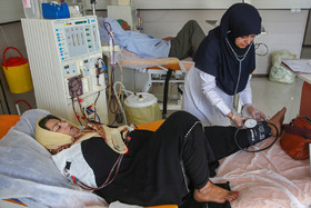 Sheyda Shokravi, who was born with no arms, is on dialysis, December 3, 2018.