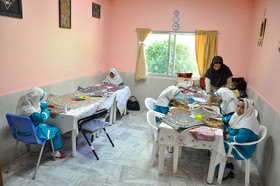 Some girls do sewing in the Rehabilitation Centre of Ali Akbar, Birjand City, December 3, 2018.