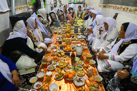 The bride and her family are invited to dinner by the groom's brother in accordance with an old custom, Iran, Bandar Torkaman City, December 8, 2018.