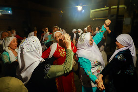Dancing during a wedding ceremony, Iran, Bandar Torkaman City, December 8, 2018.