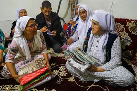 The groom's family give the bride some presents, Iran, Bandar Torkaman City, December 8, 2018.