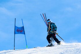 The international league of Alpine Skiing is held at Dizin ski resort, Iran, Alborz province, January 8, 2019.