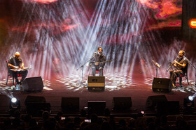 """""""Taksim Trio"""" holds a concert at Milad Tower, Iran, Tehran, January 8, 2019."""