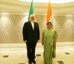 Iranian, Indian FMs meet in New Delhi