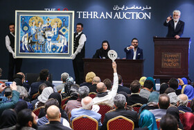 Art works are sold at the 10th Tehran Auction, Iran, Tehran, January 11, 2019.