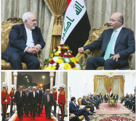 Iran FM meets with Iraqi President