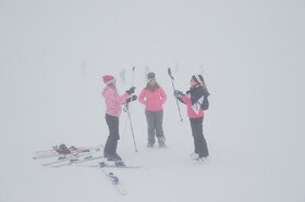 Going skiing in foggy weather